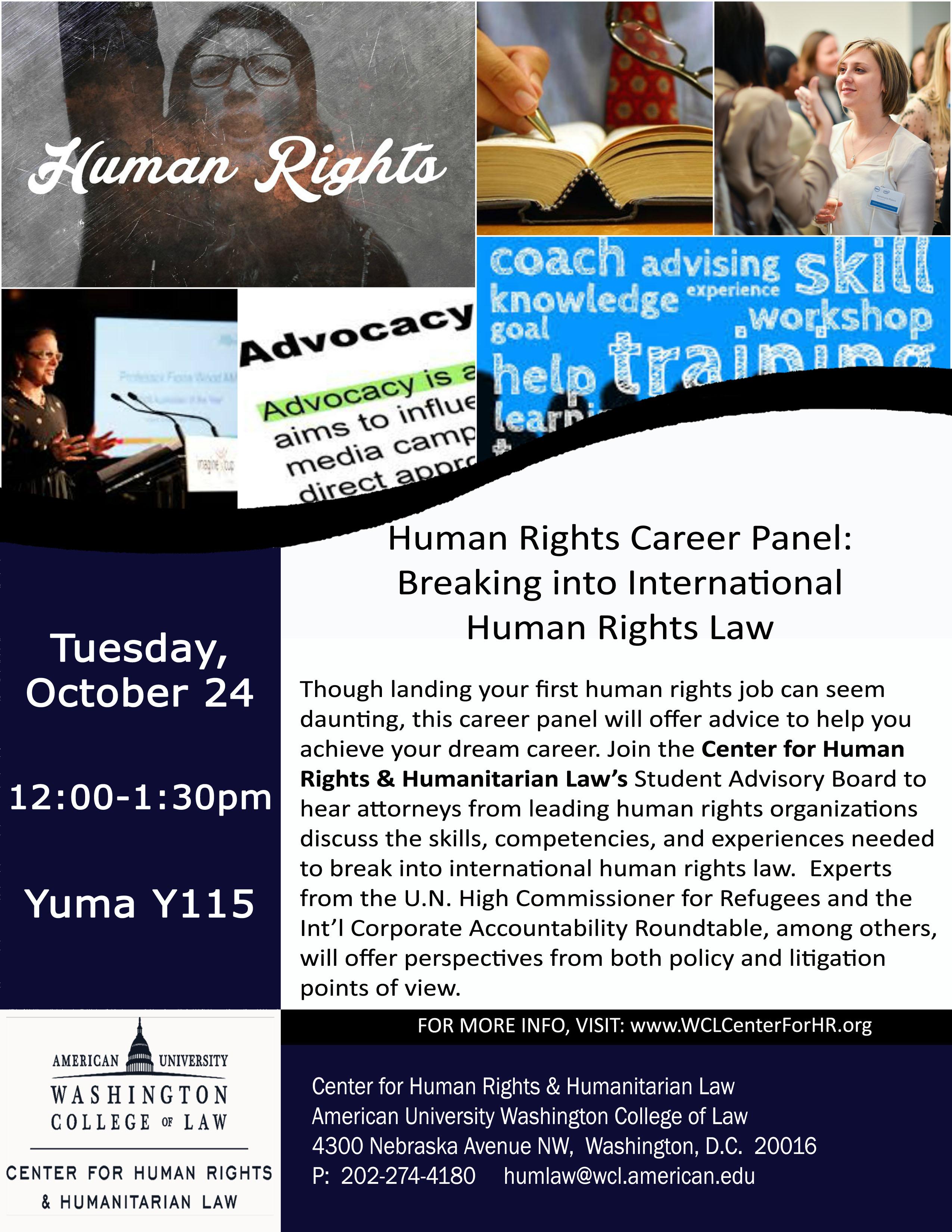 Human Rights Career Panel: Breaking into International Human